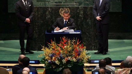 Ollanta Humala firmó Acuerdo de París contra el cambio climático