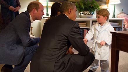 Los Obama conocen al pequeño príncipe Jorge de Cambridge [FOTOS]