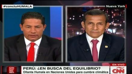 """Ollanta Humala a CNN: """"Procesos contra mi esposa se están cayendo"""""""