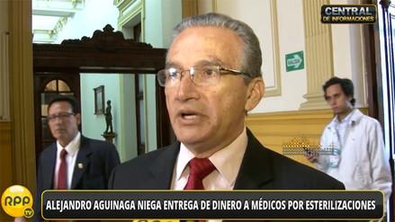 Alejandro Aguinaga niega entrega de dinero a médicos para esterilizaciones