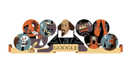 Google homenajea a William Shakespeare a 400 años de su muerte