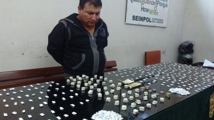 Chiclayo: capturan a sujeto con más de mil ketes de droga