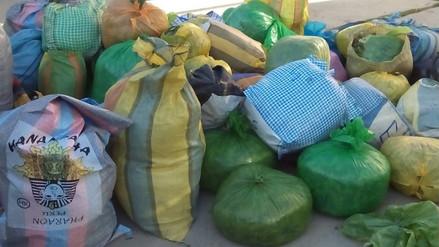 Policía incauta 420 kilos de hoja de coca en San Antonio de Putina