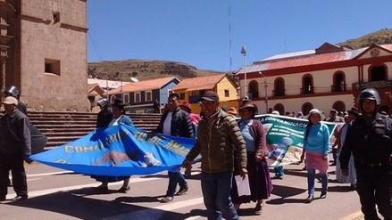 Pobladores de Ocuviri se movilizaron contra minera Aruntani