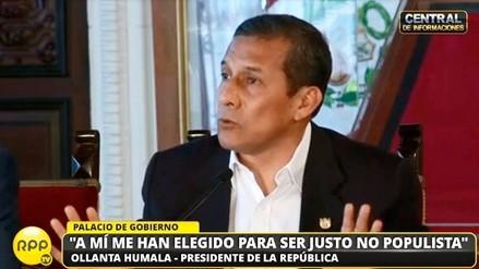 """Ollanta Humala: """"Antes todos pedían la eliminación del 24 por 24"""""""