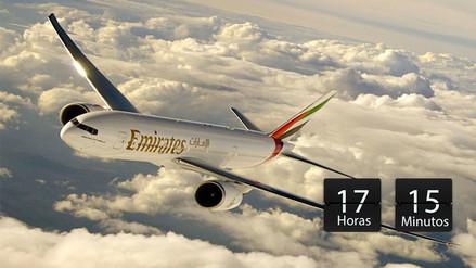 Estos son los 5 vuelos directos más largos del mundo