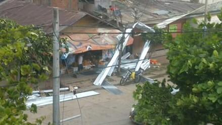 VIDEO: Fuertes vientos se registraron en la ciudad de Pucallpa