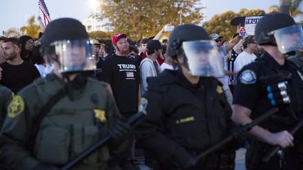 Un mitin de Trump en Los Ángeles deja al menos 20 detenidos