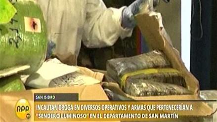 Incautan una tonelada de droga en diversas operaciones