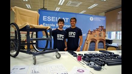 Estudiantes españoles construyen silla de ruedas con tubos