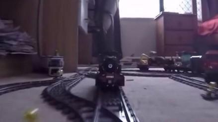 YouTube: mira el impresionante recorrido de este tren de lego