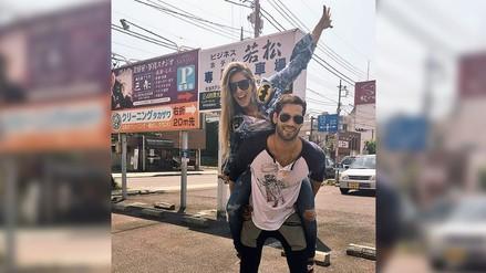 Twitter: Alejandra Baigorria y Guty Carrera celebran su amor en Japón