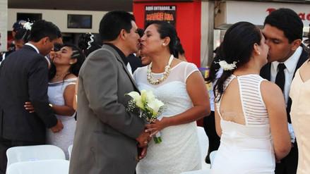Chiclayo: más de 70 parejas se unieron en matrimonio civil comunitario