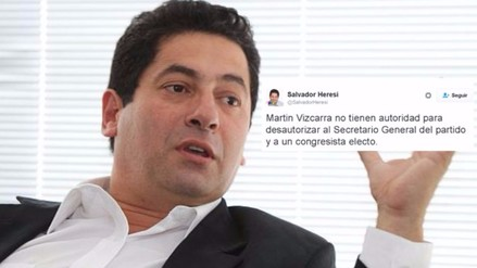 Líos internos en PPK: Heresi se enfrenta a Vizcarra en Twitter