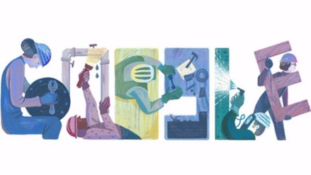 Google celebra Día del Trabajo con nuevo doodle