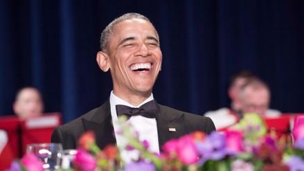 Las bromas de Barack Obama en su última cena con periodistas