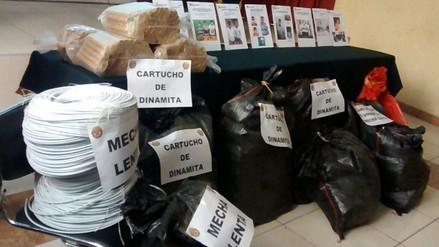 Sánchez Carrión: hallan más de 3 mil cartuchos de dinamita