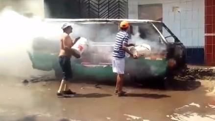 Trujillo: capturan a uno de los que quemó combi de Bello Horizonte