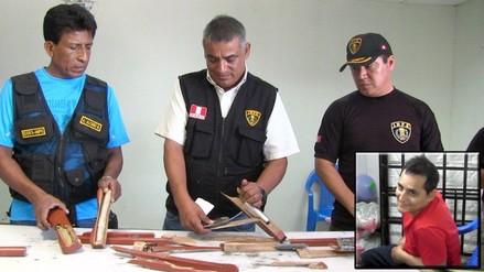 Interno pretendía ingresar a penal con droga y celulares en muletas