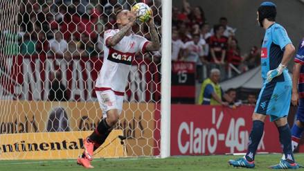 Paolo Guerrero volvió a anotar en derrota del Flamengo ante Fortaleza