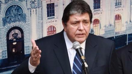 Alan García pidió que reprogramen cita a Comisión Lava Jato