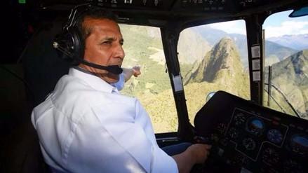 Ollanta Humala sobrevoló Machu Picchu en helicóptero pese a prohibición