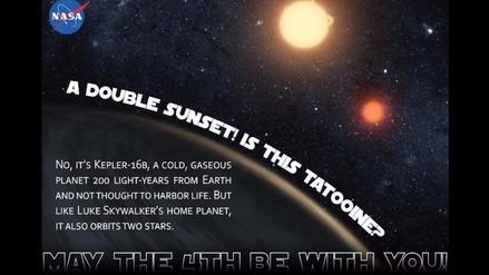 Twitter: la NASA rinde homenaje a Star Wars por su día