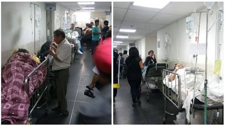 Trujillo: pacientes son atendidos en pasadizos del Hospital Belén