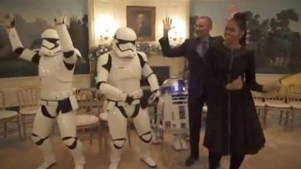 Los Obama celebraron el Día de Star Wars bailando