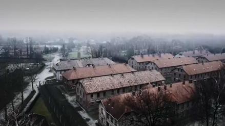 Un drone sobrevoló el campo de exterminio de Auschwitz