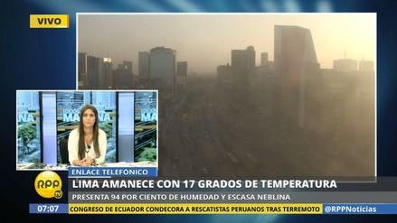 Lima registró anoche la temperatura más baja en lo que va del año