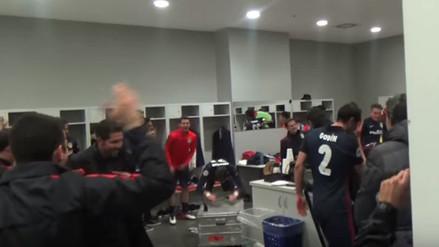 Champions League: Atlético de Madrid compartió el festejo en vestuarios