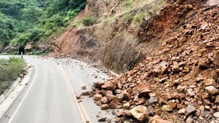 Deslizamiento bloquea vía Cutervo - San Juan de Chiple