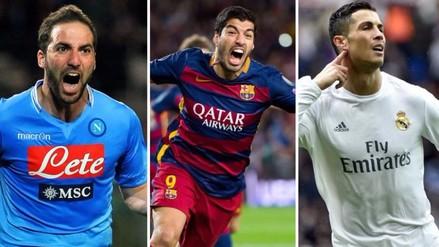 Luis Suárez, Cristiano, Gonzalo Higuaín y la lucha por la Bota de Oro