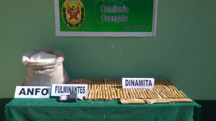 Quispicanchi: Detienen a sujeto que trasladaba explosivos