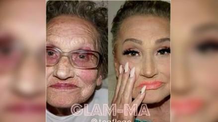 Maquillaje de octogenaria causa sensación en Instagram