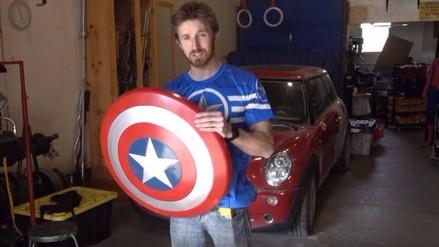 Civil War: fanático reproduce escudo de Capitán América