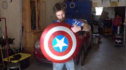 YouTube: fanático crea réplica del escudo del Capitán América [VIDEO]