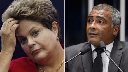 Dilma Rousseff: Romario votó a favor de su suspensión en Brasil