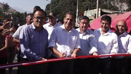 Presidente Ollanta Humala inaugura obra vial en Huaura