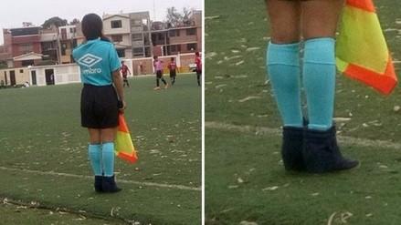 FPF: jueza de línea dirigió con botas en partido de Copa Federación