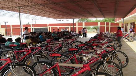 Llegan 362 bicicletas para escolares de la provincia de Lambayeque