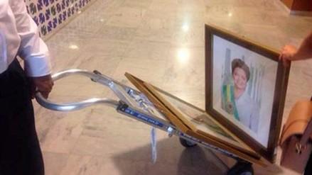 Cuadros de Dilma Rousseff fueron sacados de Palacio de Planalto