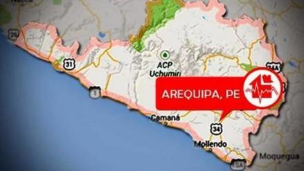 Sismo de 3.5 grados de magnitud remeció Arequipa