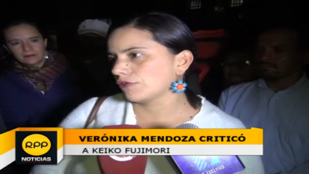 "Verónica Mendoza: ""Keiko Fujimori asume compromisos irresponsables"""
