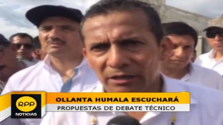 Ollanta Humala escuchará debate técnico de agrupaciones políticas