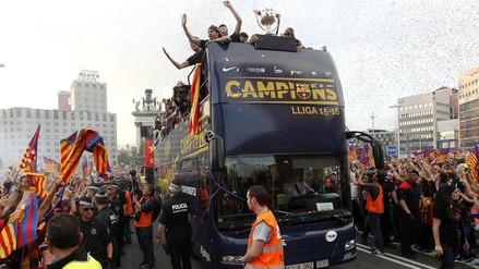 YouTube: lo mejor de la 'Rúa de campeones' del Barcelona