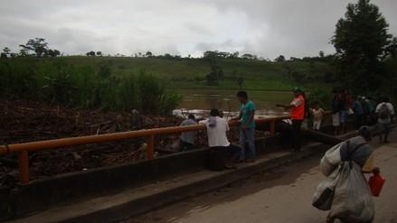 Moyobamba: puente sobre el río Indoche a punto de colapsar