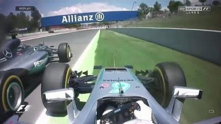 GP de España: Hamilton arrolló a Rosberg y los Mercedes quedaron fuera