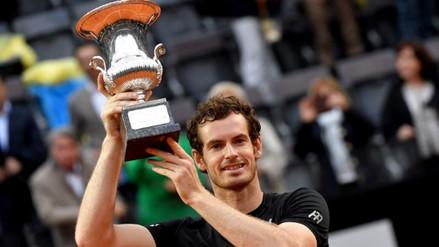 Andy Murray derrotó a Novak Djokovic y ganó el Masters 1000 de Roma